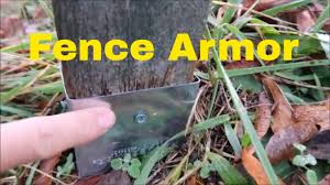 Protect Fence Post From String Trimmer With Fence Armor Youtube