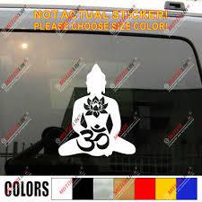 Yoga Hindu Buddha Peace Love Aum Car Vehicle Window Sticker Om Symbol Decal