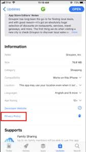 privacy policy for your mobile app