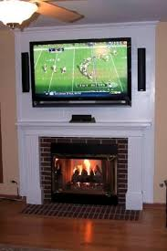 fireplace and hiding the cords by stacy