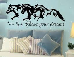 Chase Your Dreams W Horses And Stars Wall Vinyl Decal Sticker Nursery Motivation Ebay