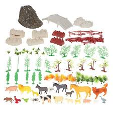 100 Plastic Animal Farm Toys Farm Animal Figures Set Small Farm Animal Figurines With Fake Props Foage Fencing And Rocks Inclus Carrying Case Box Dimensions 10 5 X 6 2 X 8 2 Inches Walmart Canada