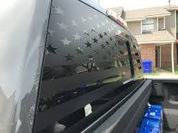 Ford F 150 Rear Window Decal American Flag Overlook Graphics Llc