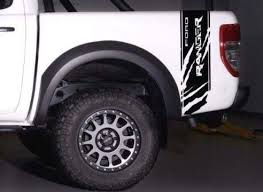 Product Ford Ranger Wildtrak Logo Side Bed Stripe Graphics Decal Sticker Tailgate 06 18