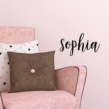 Amazon Com Vinyl Wall Art Decal Girls Name Sophia Text Name 12 X 26 Girls Bedroom Vinyl Wall Decals Cute Wall Art Decals For Baby Girl Nursery Room Decor