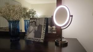 conair oval lighted make up mirror