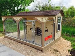 Custom Dog House Kennel Chain Link Fence Custom Dog Houses Dog House Diy Luxury Dog Kennels