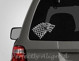 Game Of Thrones House Stark Vinyl Decal Sticker Car Window Decor Decals Stickers Vinyl Art