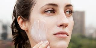 wearing sunscreen on your face