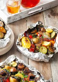 foil packs with sausage corn zucchini