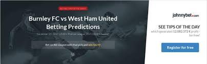 burnley fc vs west ham united betting