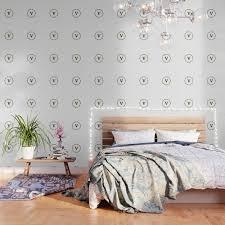 vine letter v monogram wallpaper by