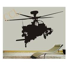 Ah 64 Apache Longbow Helicopter Vinyl Wall Decal Sticker Military Kids Vfr Direct