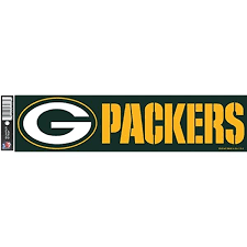 Amazon Com Nfl Green Bay Packers Decal Bumper Sticker Team Color One Size Sports Fan Bumper Stickers Sports Outdoors