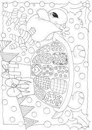 Kerst Feest Schildpad Kleuren Kleurplaten Voor Volwassenen