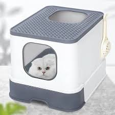 Top Entry Cat Litter Box Cat Sandbox Large Capacity Toilet Tray ...