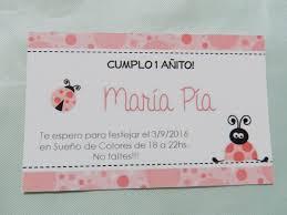 Invitacion Tarjeta Vaquita Primer Ano Nacimiento Babyshower