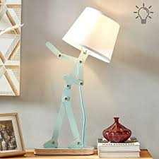 Hroome Cool Novelty Kids Desk Lamp With Swing Arm Modern Wood Adjustable Table Lamp Bedside Light For Reading Bedrooms Living Room Office Girls Boys Pea Green Bulb Included Amazon Com