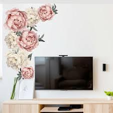 Di Beautiful Peony Flowers Wall Sticker Vinyl Decal Diy Home Room Decor Art Mur For Sale Online