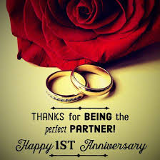 one year marriage anniversary message thanks for being the