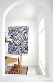 how to hang a rug on the wall as art