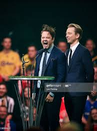 Stand up comedians Thomas Warberg and Brian Lykke entertain the gusts...  News Photo - Getty Images