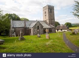 Village church of Saint Peter, Buckland in the Moor, Dartmoor Stock Photo -  Alamy