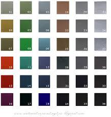 automotive paint ppg color codes