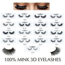 mink hair natural long eye lashes false