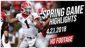 Justin Fields Georgia Spring Game Full ...