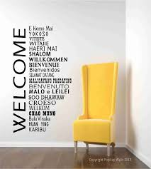 Welcome Wall Decals International Welcome Words Welcome Etsy In 2020 Office Wall Decor Office Reception Welcome Words