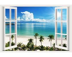 Impressive 3d Window Wall Decals Removable Wall Stickers Wall Decor Mialma