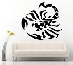 Tribal Scorpion Scorpio Removable Wall Vinyl Decal 22x23 Color Choices Ebay