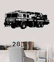Vinyl Wall Decal Fire Truck Engine Firetruck Boys Room Stickers Mural Wallstickers4you