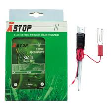 Ba100 Electric Fence Energiser Fencer Energizer X Stop 12v Battery Powered 20km 1 Joule And All Leads Buy Online In Belize Missing Category Value Products In Belize See Prices Reviews