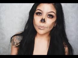 simple easy halloween skull makeup