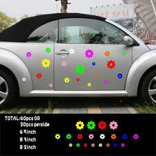 Car Decals 40 Flowers Multi Color For Beetle Vinyl Side Door Stickers Zc1002 40pcs Flower Car Decal Flower Decals For Cardecals For Cars Aliexpress