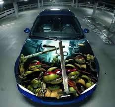 Vinyl Car Hood Wrap Full Color Graphics Decal Tmnt Mutant Ninja Turtles Sticker Ebay