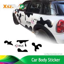 Car Styling Milk Cow Car Body Sticker Personalized Customized Waterproof Car Stickers Cartoon Decals For Smart Mini Decals For Cars Decal Customdecal Car Sticker Aliexpress