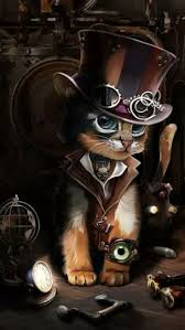Pin by Abby Sprouse on street art kinder | Steampunk animals, Steampunk  cat, Cat art