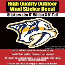 Nhl Hockey Vinyl Car Window Laptop Bumper Sticker Decal Nashville Predators Home Garden Children S Bedroom Sports Decor Decals Stickers Vinyl Art