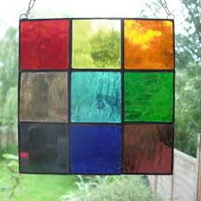 stained glass rainbow colour hanging