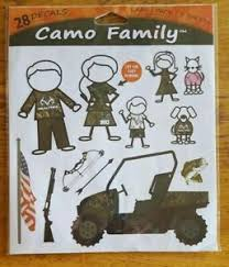 Realtree Camo Family Peel And Stick Wall Decal 28 Decals Rt Cfam Lg 876268005688 Ebay