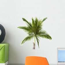 Palm Tree White Wall Decal Wallmonkeys Com