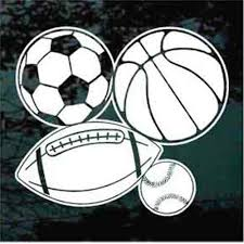 Baseball Basketball Football Soccer Car Decals Stickers Decal Junky