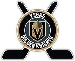Amazon Com Hotprint Golden Knights Hockey Vegas Sticks Logo Sport Car Bumper Sticker Decal 5 X 4 Kitchen Dining