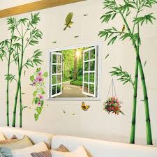Chinese Style Bamboo Wall Stickers Living Room Tv Background Wall Decoration Wallpaper Stickers Heavenly Rewards Wallpaper Self Adhesive