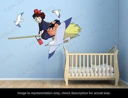 Kiki 39 S Delivery Service Inspired Kiki And Jiji A Wall Art Applique Stickers In 2020 Kiki S Delivery Service Kiki Delivery Wall Art