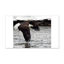 Wings Of Eagles With Isaiah 40 31 Wall Decal By The Bible Verse Shop Cafepress