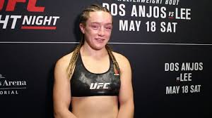 UFC Rochester: Aspen Ladd Not About to Start Calling Out Opponents - YouTube